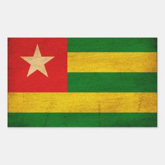 Togo Flag Rectangular Sticker