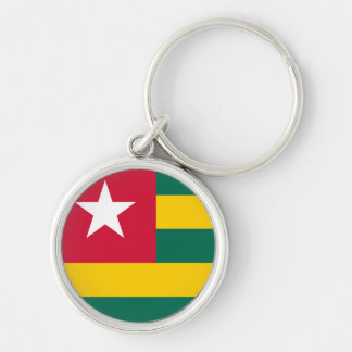 Togo Flag Silver-Colored Round Keychain