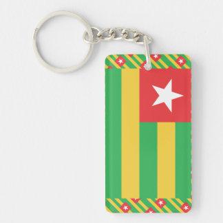 Togo Flag Single-Sided Rectangular Acrylic Keychain
