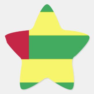 Togo Flag Star Sticker