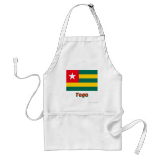 Togo Flag with Name Adult Apron