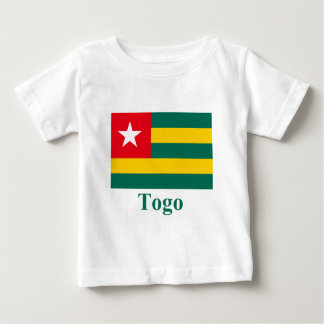 Togo Flag with Name Baby T-Shirt