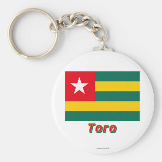 Togo Flag with name in Russian Basic Round Button Keychain
