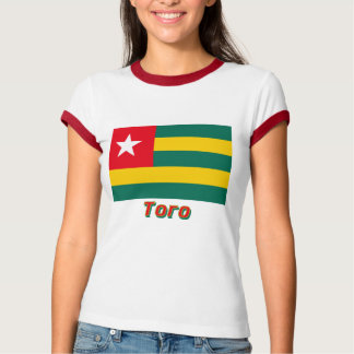 Togo Flag with name in Russian T-Shirt