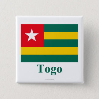 Togo Flag with Name Pinback Button