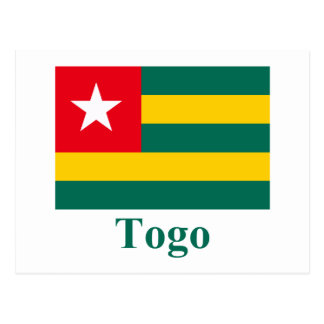 Togo Flag with Name Postcards