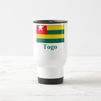 Togo Flag with Name Travel Mug