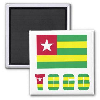 Togo Flag & Word Magnet