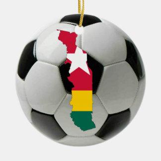 Togo football soccer ornament