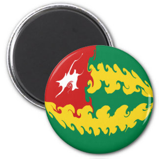Togo Gnarly Flag 2 Inch Round Magnet