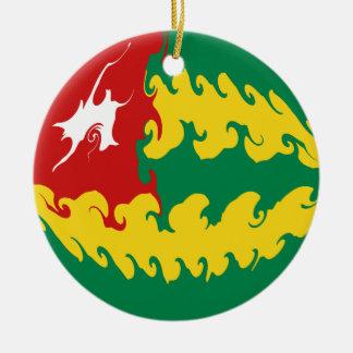 Togo Gnarly Flag Christmas Ornament