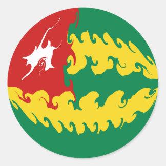 Togo Gnarly Flag Classic Round Sticker