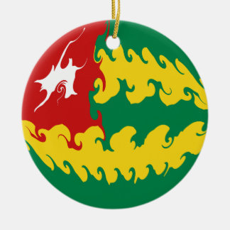 Togo Gnarly Flag Double-Sided Ceramic Round Christmas Ornament
