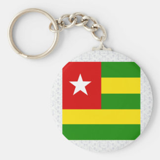 Togo High quality Flag Basic Round Button Keychain