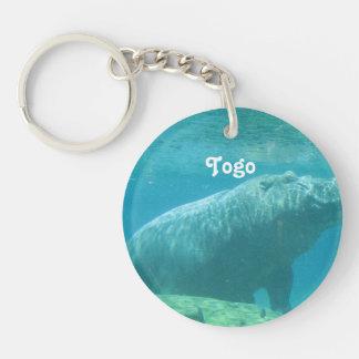 Togo Hippo Single-Sided Round Acrylic Keychain