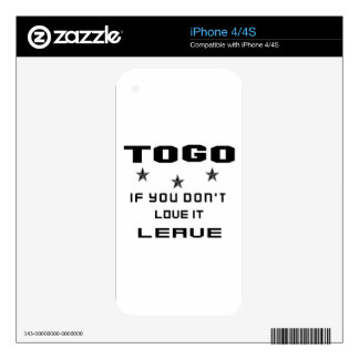 Togo If you don't love it, Leave iPhone 4S Decals