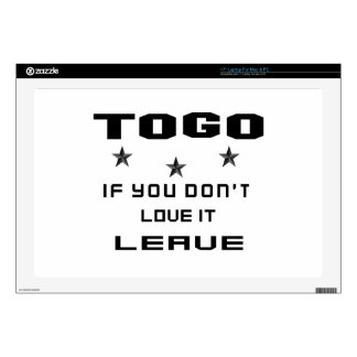 """Togo If you don't love it, Leave Skin For 17"""" Laptop"""