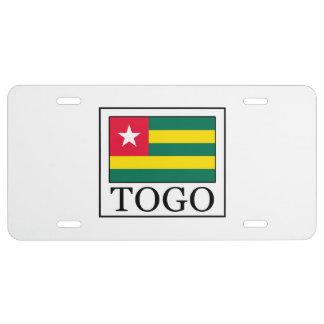 Togo License Plate