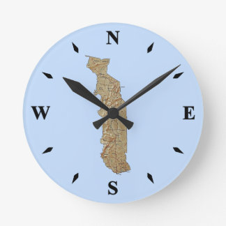 Togo Map Clock