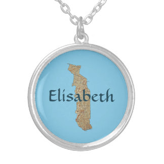 Togo Map + Name Necklace