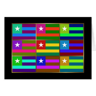 Togo Multihue Flags Greeting Card