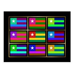 Togo Multihue Flags Postcard