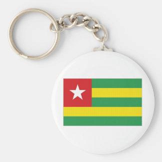 Togo National Flag Basic Round Button Keychain