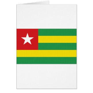 Togo National Flag Card