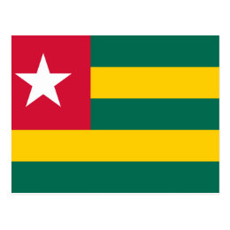 Togo National World Flag Postcard