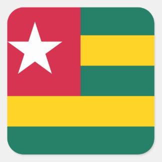 Togo National World Flag Square Sticker