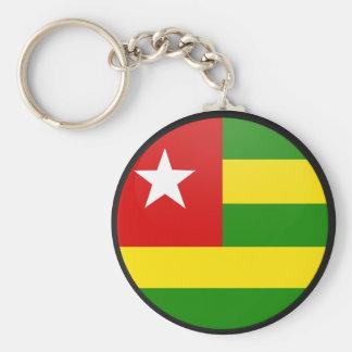 Togo quality Flag Circle Basic Round Button Keychain