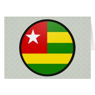 Togo quality Flag Circle Greeting Card