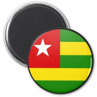 Togo quality Flag Circle Magnets