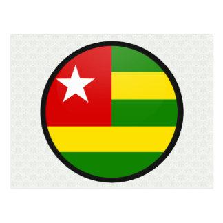 Togo quality Flag Circle Postcard