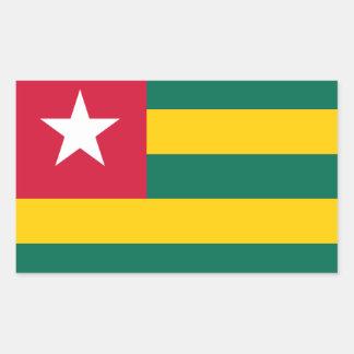 """Togo Republic Flag Sticker"""" Rectangular Sticker"""