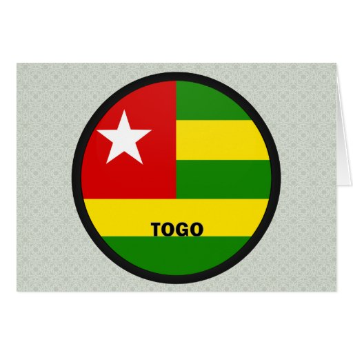 Togo Roundel quality Flag Greeting Card