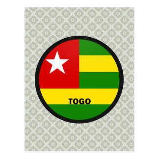 Togo Roundel quality Flag Postcard