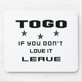 Togo si usted no lo ama, se va tapete de raton