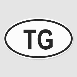"""Togo """"TG"""" Oval Stickers"""