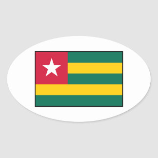 Togo – Togolese Flag Oval Sticker