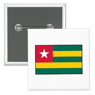 Togo – Togolese Flag Pinback Buttons