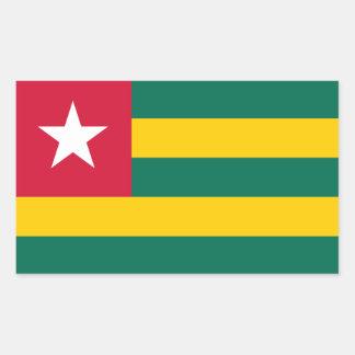 Togo/Togolese Flag Rectangular Sticker