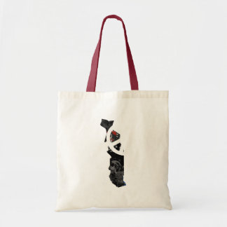 Togo Trendy Peace Sign with Togolese map Tote Bags
