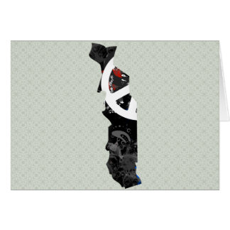 Togo Trendy Peace Sign with Togolese map Greeting Card