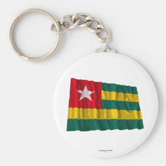 Togo Waving Flag Basic Round Button Keychain