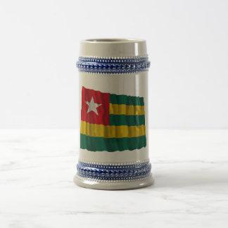 Togo Waving Flag Beer Stein