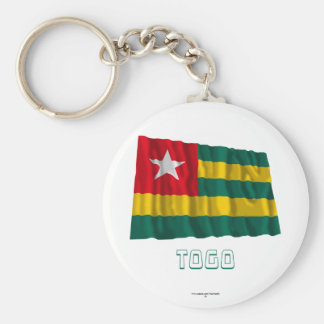 Togo Waving Flag with Name Keychain