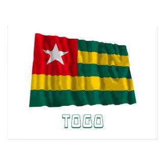 Togo Waving Flag with Name Postcard