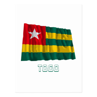 Togo Waving Flag with Name Post Card