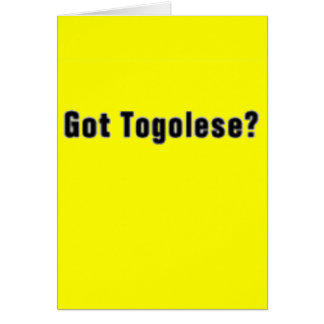 Togolese 'Africa'  T-Shirt and etc Greeting Card